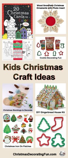 Kids Christmas Craft Ideas - Kids love crafts, and Christmas is the perfect time to put together fun and festive creative projects. Use some of these ideas this holiday season and not only will your kids be happy, but you might get some fun decorations and snacks out of it too.