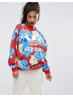 Shop adidas Originals Farm Big Floral Print T-Shirt & Sweatshirt at ASOS. Streetwear Brands, Sweat Shirt, Latest Outfits, Fashion Outfits, Latest Clothes, Fall Outfits, Women's Fashion, Adidas Farm, Outfit