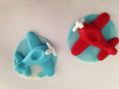 12 Fondant airplanes many colors for cupcake by LuliSweetShop