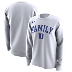 8243c0d138f Duke Blue Devils Nike March Madness Family on Court Legend Basketball  Performance Long Sleeve T-Shirt - White
