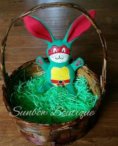 Check out this item in my Etsy shop https://www.etsy.com/listing/270636358/ninja-turtle-inspired-stuffed-bunny