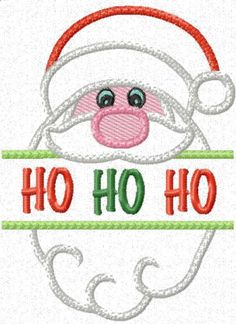 Split Applique Santa and Bag - Free machine embroidery designs - Kreative Kiwi Machine Embroidery Thread, Machine Embroidery Projects, Free Machine Embroidery Designs, Embroidery Patterns, Embroidery Stitches, Sewing Patterns, Embroidery Monogram, Paper Embroidery, Learn Embroidery