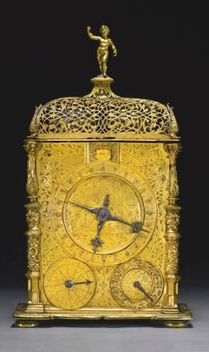 Hans Gasteiger. A gilt-brass quarter striking astronomical table clock in the style of Jeremias Metzger, Munich, dated 1562/63