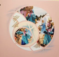 Disney Scrapbook Pages, Scrapbooking Ideas, Scrapbook Layouts, Bilbao, Illusions, Disneyland, Stencils, Cricut, Journal