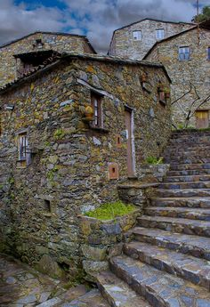 Mountain village near Lousã, Candal historical schist village. Portugal By Nuno Valente Places In Portugal, Visit Portugal, Spain And Portugal, Portugal Travel, Beautiful Places To Visit, Places To See, Medieval Village, Portuguese, Beautiful Landscapes