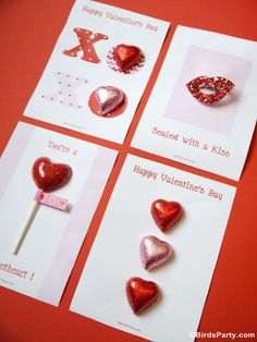 Four Valentine's Day DIY Cards with Free Printables Party Printables Diy Valentines Day Wreath, Valentines Day Cards Handmade, Valentines Day Food, Valentine Treats, Valentines Day Gifts For Him, Valentine Day Love, Valentines Day Decorations, Valentine Day Crafts, Valentine's Day Diy