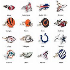 NFL Cufflinks Grooms men