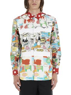 Shop Comme Des GarÇons Shirt Pop Shirt In Multicolor from stores. On SALE now! pop Shirt From Comme Des Garcons: Cotton pop ShirtComposition: cotton Hawiian Shirts, Comic Book Printing, Comme Des Garçons Shirt, Comme Des Garcons, Printed Shirts, Men's Shirts, International Fashion, Floral Tops, Men Casual