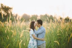 Pre-wedding photo shoot in a lalang field // Private Escape: Alvin and Eileen's Engagement Shoot