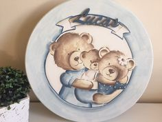 Baby Room, Decoupage, Stencils, Decorative Plates, Teddy Bear, Plaster Art, Wood Paintings, Painting On Fabric, Kid Drawings
