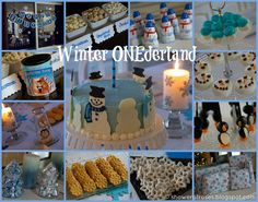Winter Onederland - trying to think of ideas for Sam's first birthday. this might be too cheesy and too much work, but it's an idea...