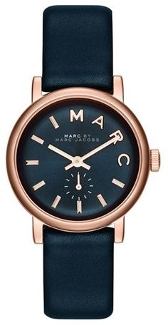 $195, Baker Leather Strap Watch 28mm by Marc by Marc Jacobs. Sold by Nordstrom. Click for more info: http://lookastic.com/women/shop_items/87877/redirect