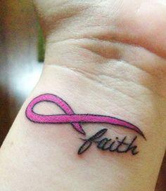 breast cancer memorial tattoo | Breast Cancer Faith Infinity Ribbon Tattoo My Fight