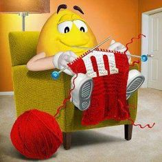Knitting - the new munchies activity!