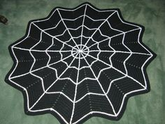 crochet+spider+web+pattern | PATTERN Spider Web Rug Crochet