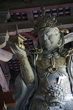Clad in period accurate Chinese armor,   毘沙門天(東大寺)  Bishamon-ten (Todaiji Temple)