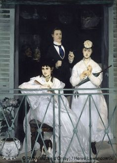 The Balcony by Edouard Manet.  His sister-in-law, Berthe Morisot (the painter) is the dark haired woman in the front.  I love his painting.