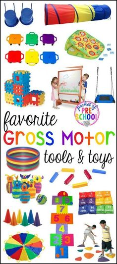 gross motor toys and tools for indoor and outdoor recess for little learners