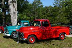 Classic Chevy trucks. Lake Helen Car Show 4/28/2012.