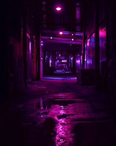 Berlin underground streets dangerous places magenta picture led pink lights and reflection over Violet Aesthetic, Dark Purple Aesthetic, Neon Aesthetic, Night Aesthetic, Aesthetic Rooms, Aesthetic Backgrounds, Aesthetic Wallpapers, Aesthetic Iphone Wallpaper, Neon Purple