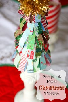 Easy Paper Christmas Tree Craft  - ten minutes and you are done. There are so many looks with varying papers.