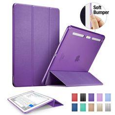 Case for iPad mini 4, ESR PU Leather Translucent Back Cover Hybrid [Soft Corner][Ultra Slim] Color Smart Cover for iPad mini 4