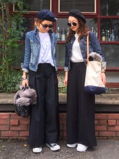 Style Hijab Outfit Casual Ideas For 2019 Japan Fashion, Look Fashion, Trendy Fashion, Korean Fashion, Autumn Fashion, Womens Fashion, Trendy Style, Look Street Style, Asian Street Style