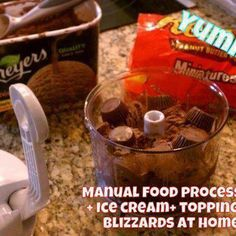 Photo: Make your own Blizzards at home with the Manual Food Processor (Homemade Salsa, Dips, Blizzards and so much more) www.pamperedchef.biz/brookeodonnell