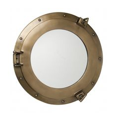 "Bronze Aluminum Porthole Mirrors are add a gorgeous touch to those nautically inspired bedrooms.  Our 17"" option is available for only $105.  PLUS...New customers receive 20% off their first order!"