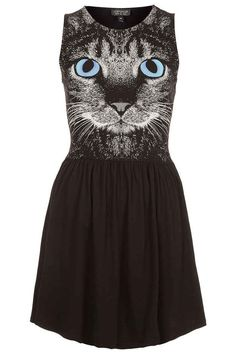 Topshop Cat Print Dress | 16 Crazy Cat Lady Gifts...I neeeed this dress in my life please & thank you ♥