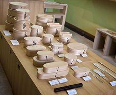 A bento box from the magewappa workshop of Yoshinobu Shibata.  Pic source: http://justbento.com/handbook/bento-culture/great-bento-box-makers-shibata-yoshinobu-shoten-odate-akita-japan