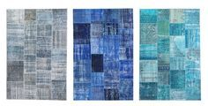 kind of in love with these over-dyed patchwork rugs.  #silkeborg #ikea