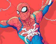 Pin by jiken on spider-verse spiderman, marvel, spiderman ar Drawing Cartoon Characters, Comic Book Characters, Character Drawing, Comic Character, Cartoon Drawings, Character Design, Kawaii Drawings, Marvel Comics, Marvel Art