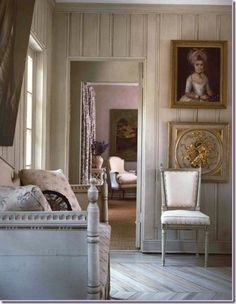 Enfilade style design, where one room opens to another, without the use of halls