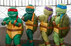 Wish I could find Teenage Mutant Ninja Turtle costumes like this for my son's birthday party.