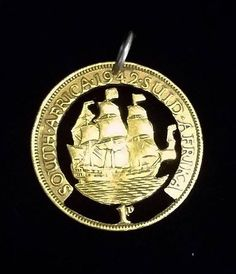 South African cut coin pendant with boat design  https://www.etsy.com/au/shop/ChronicSmithing?ref=search_shop_redirect