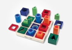 Melissa and Doug Kids Toy, Shape Sequence Sorting Set. Help them develop the building blocks of beginning math skills with this entertaining and educational shape sequence sorting set from Melissa and Doug. Wooden Toys For Toddlers, Toddler Toys, Baby Toys, Kids Toys, Toddler Stuff, Toddler Preschool, Wooden Shapes, Developmental Toys, Melissa & Doug