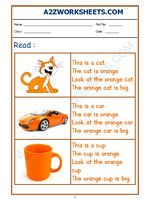 Worksheet of English Reading Practice - Words-Reading-English Printable English Worksheets, Worksheets For Class 1, Blends Worksheets, Reading Worksheets, Free Printables, First Grade, Grade 1, Sound Words, Reading Practice