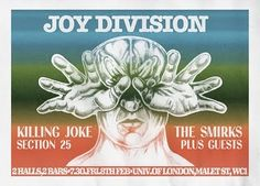 Joy Division gig poster - and Killing Joke at the same show, count me in
