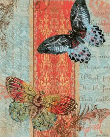 Butterfly Art Print featuring the digital art Royal Tapestry by Jean Plout Decoupage Vintage, Vintage Paper, Vintage Art, Vintage Butterfly, Butterfly Art, Stencil, Paper Art, Paper Crafts, Beautiful Butterflies