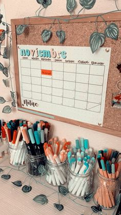 Study Room Decor, Room Ideas Bedroom, Diy Room Decor, Bedroom Decor, Cute Desk Decor, Cool School Supplies, Aesthetic Room Decor, Bullet Journal Ideas Pages, Desk Organization