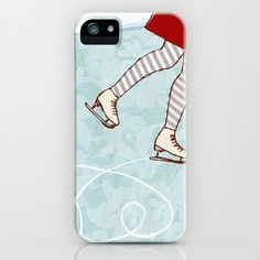 Ice Skating iPhone Case by Alli Coate - $35.00