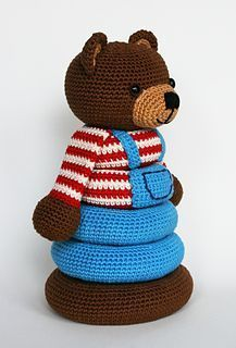 Stacking toy pattern by Christel Krukkert