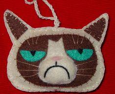 54 Ideas For Cats Crafts Grumpy Paper Animals, Felt Animals, Felt Christmas, Christmas Ornaments, Felt Decorations, Felt Cat, Felt Brooch, Cat Party, Cat Crafts