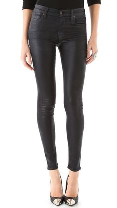 Leather pants too pricey? Try a coated denim instead like Hanna. Citizens of Humanity Rocket Leatherette Jeans | Pretty Little Liars