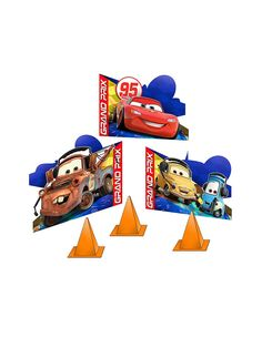 Cars Tabletop Centerpiece Decoration ! See more birthday party planning ideas at BirthdayinaBox.com!