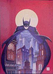 "Signed, Bob Kane Lithograph: Night Vigil Over Gotham: 30""x 20"" $500"
