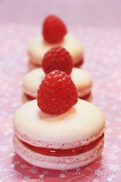 French Macaron Real Raspberry French Macaron by IndayaniBakedGoods