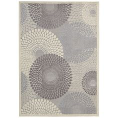 Graphic Illusions Grey Abstract Area Rug