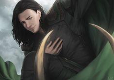Loki by Asaderi Marvel Comic Universe, Comics Universe, Marvel Dc, Marvel Comics, Spiderman Vs Superman, Image Painting, Zine, Nice Tops, Loki
